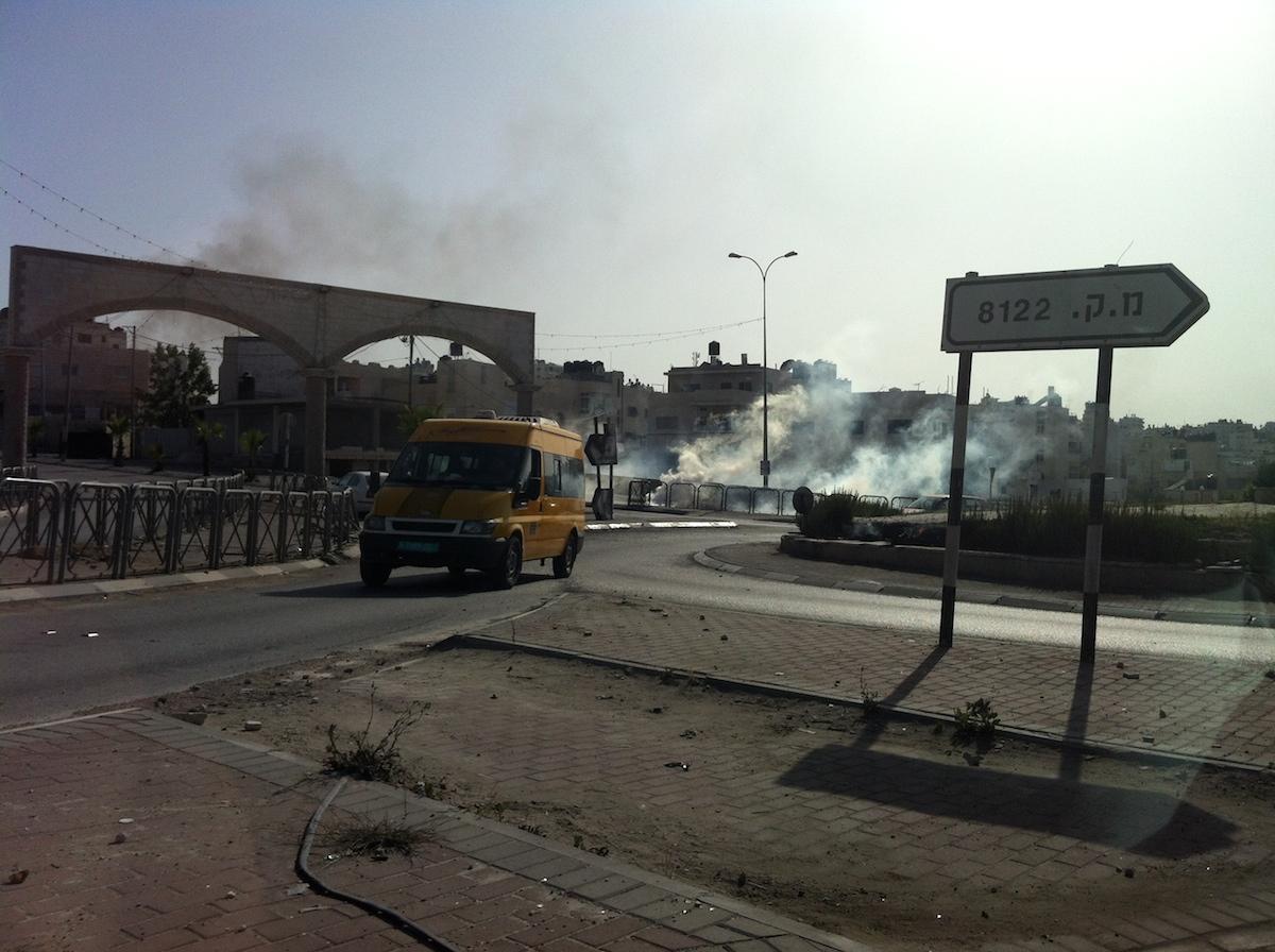 That is no smoke - it is tear gas